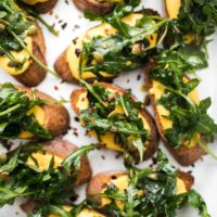 Pumpkin Ricotta Crostini with Arugula