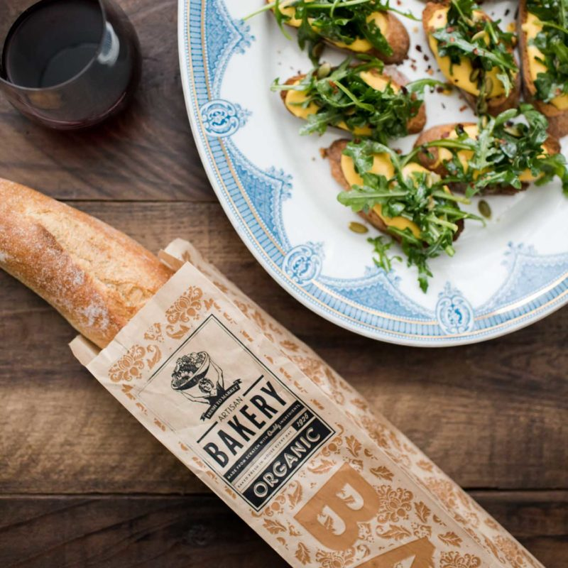 Pumpkin Ricotta Crostini with Arugula with Nugget Market | Naturally Ella