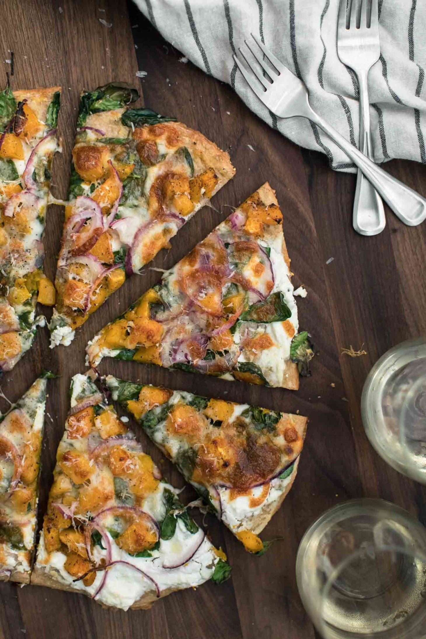 Ricotta Butternut Squash Pizza with Spinach | Naturally Ella