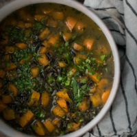 Wild Rice Soup with Carrots and Parsley
