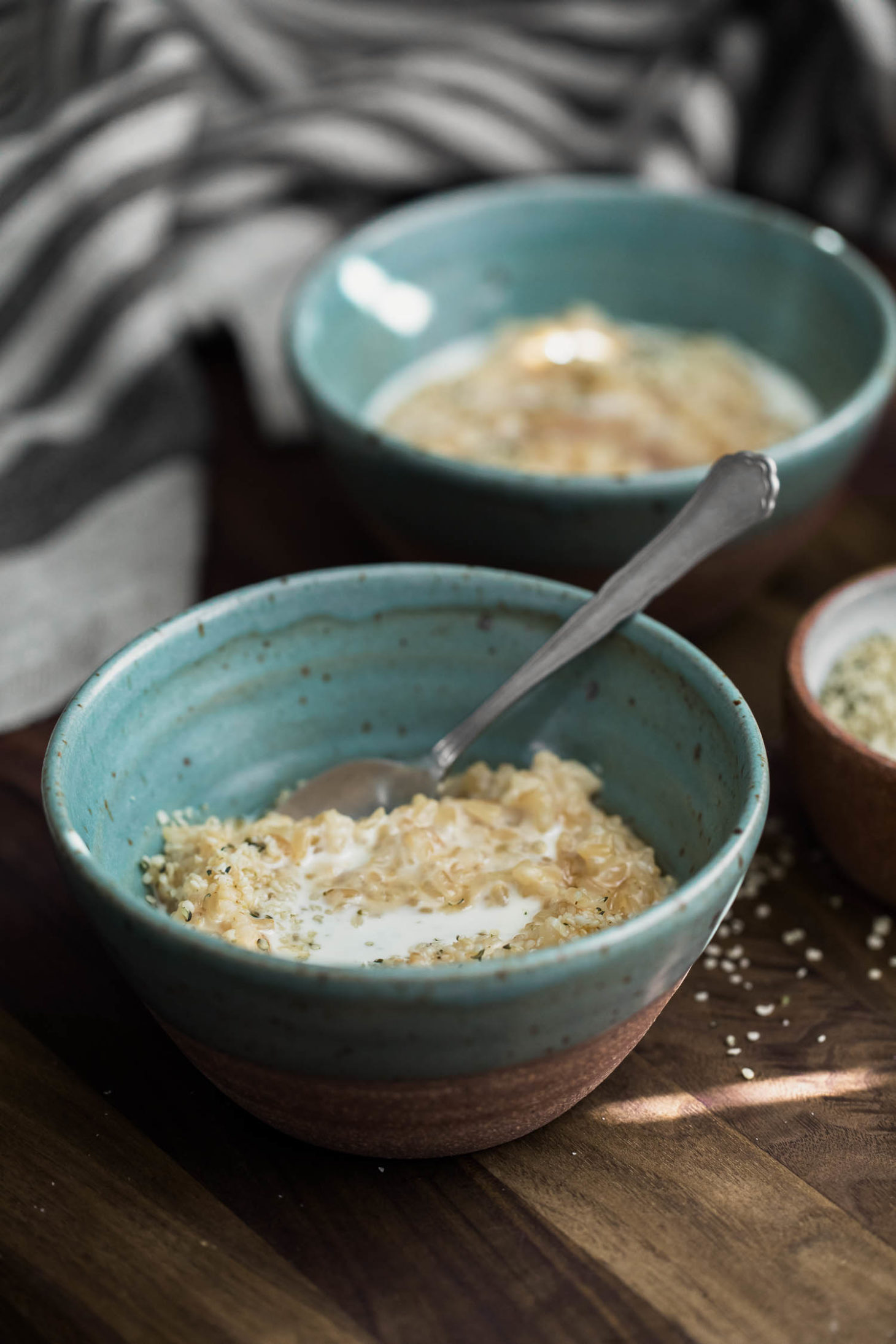 Brown Rice Porridge with Cream | Naturally Ella