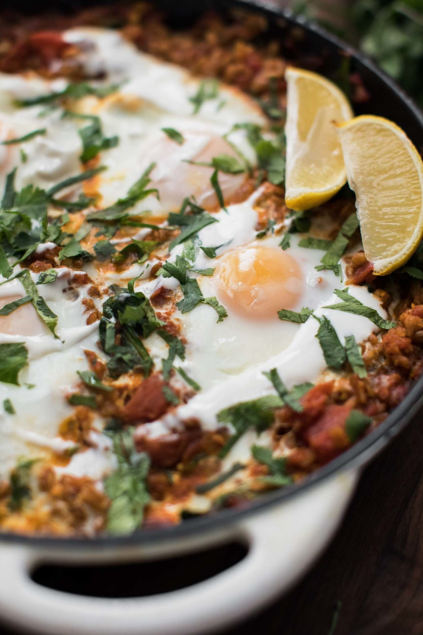 Ras El Hanout Farro Skillet with Eggs | Naturally Ella