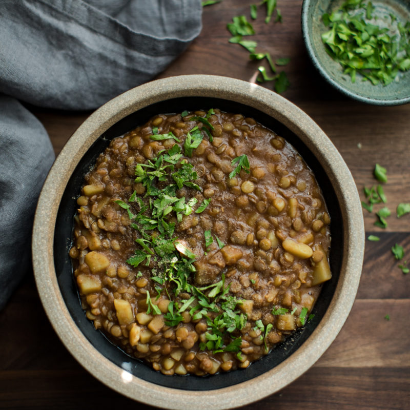 Spiced Lentil Stew with Potatoes | Naturally Ella