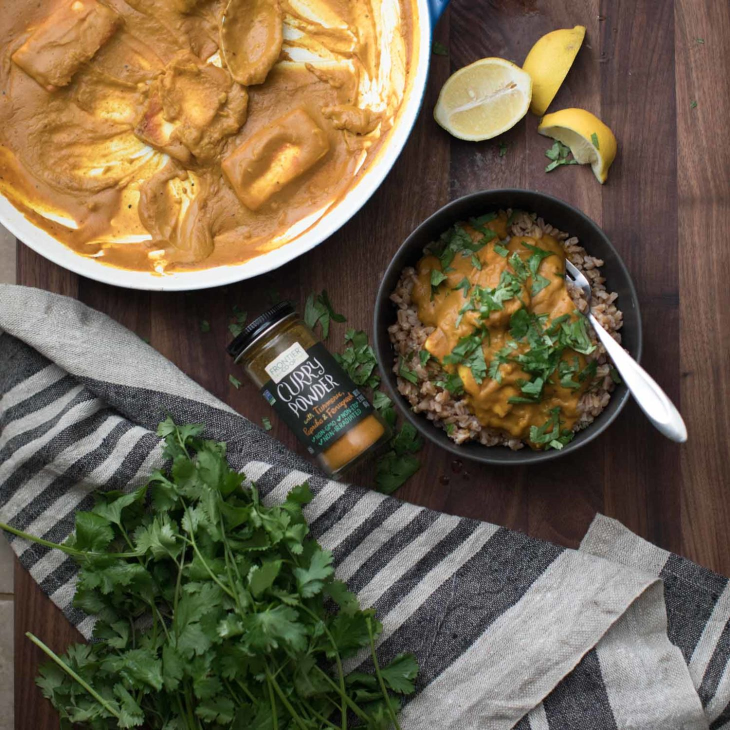 Pumpkin Paneer Curry with Frontier Co-op Curry Powder | Naturally Ella