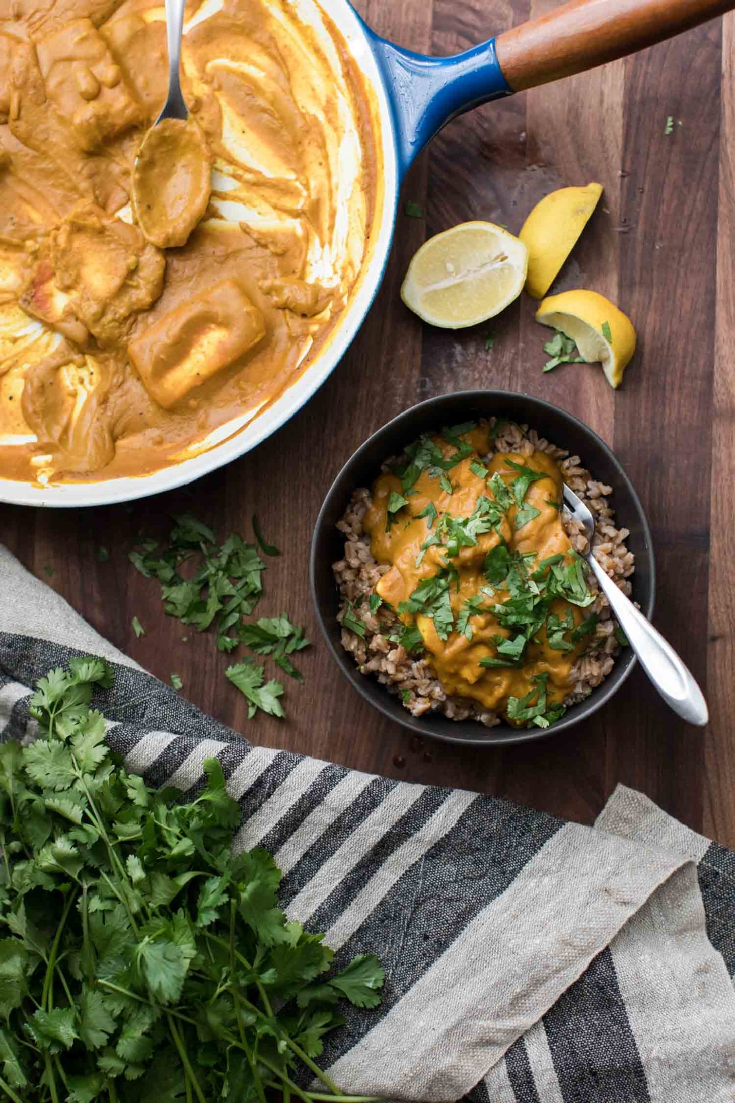 Pumpkin Paneer Curry with Barley | Naturally Ella