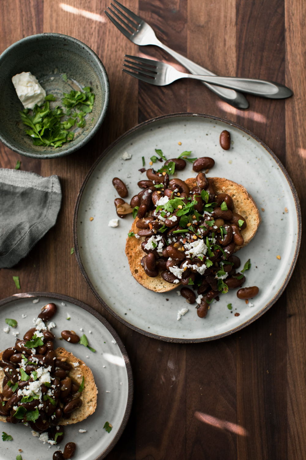 Garlicky Pinto Bean Toast | Naturally Ella