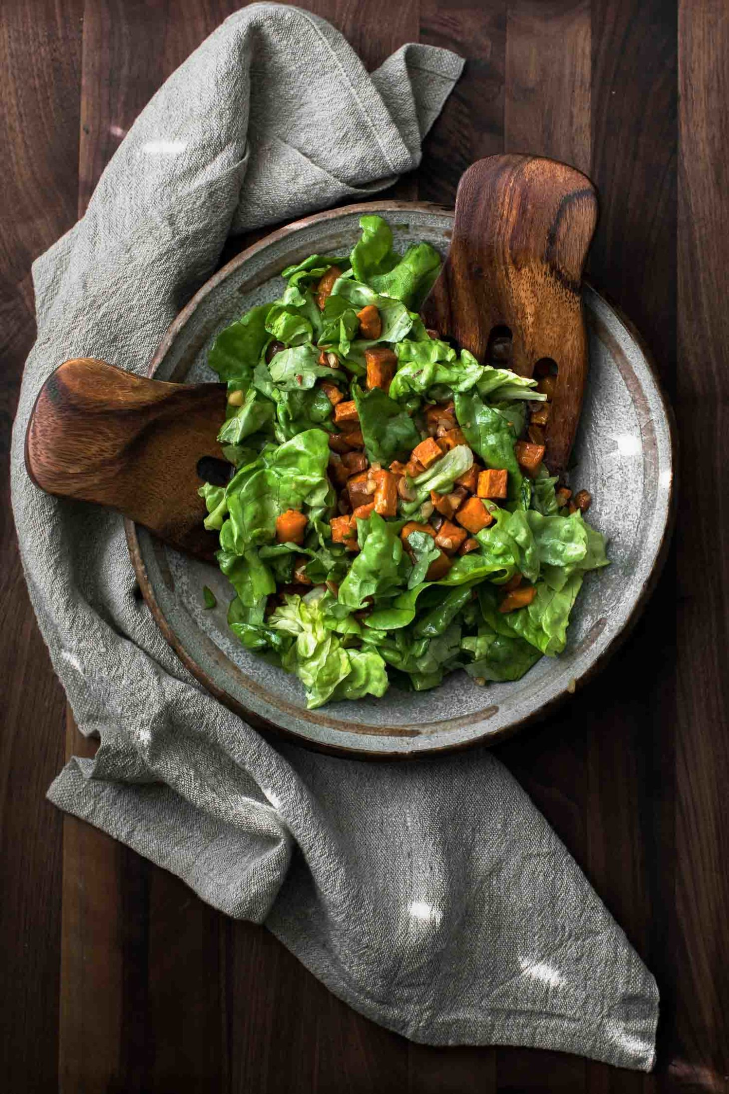 Sweet Potato Salad with Butter-Hazelnut Dressing