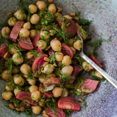 Dill Beet Chickpea Salad | Naturally Ella