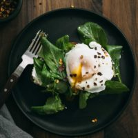Garlicky Goat Cheese Toast with Arugula