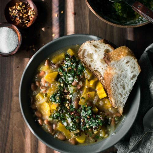 Pinto Squash Stew with Chimichurri | Naturally Ella