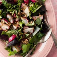 Roasted Radish Salad with Butter-Thyme Dressing