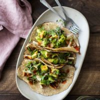 Grilled Scallion Avocado Halloumi Tacos