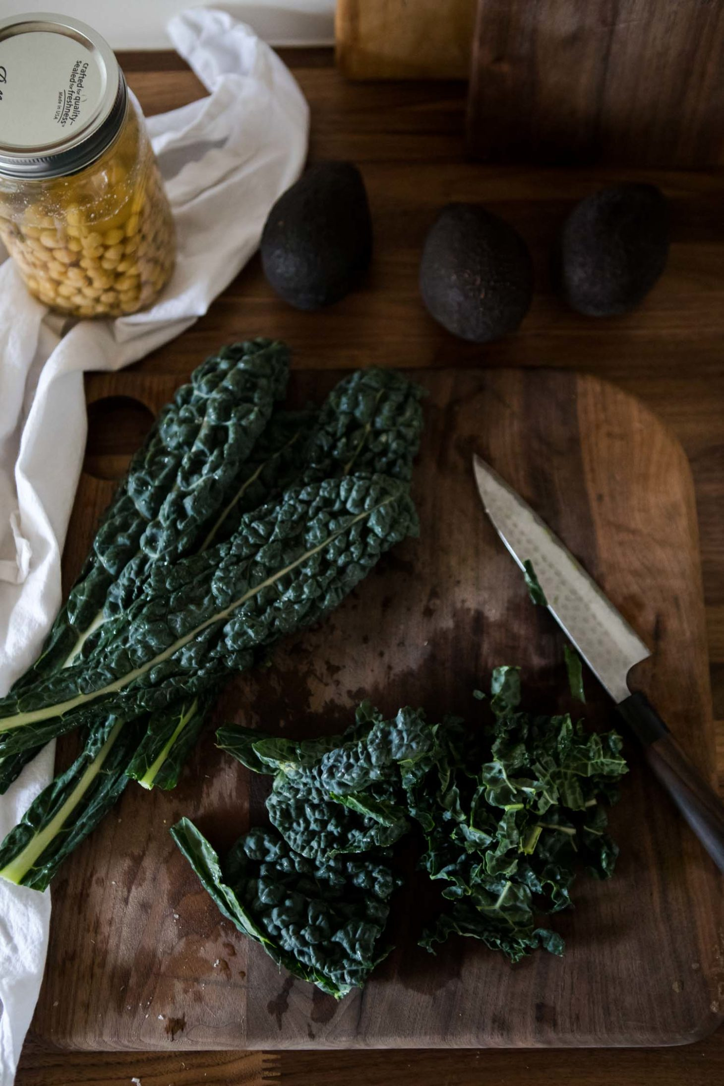 Kale, Chickpeas, and Avocado | Naturally Ella