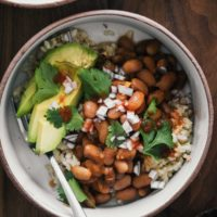 Spiced Pinto Bean Bowls with Avocado | Naturally Ella