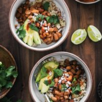 Spiced Pinto Bean Bowls with Avocado