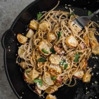 Sesame Turnips with Soba Noodles
