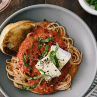 Roasted Butter Tomato Sauce Pasta