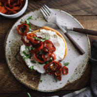 Ricotta Toast with Butter-Fried Peppers