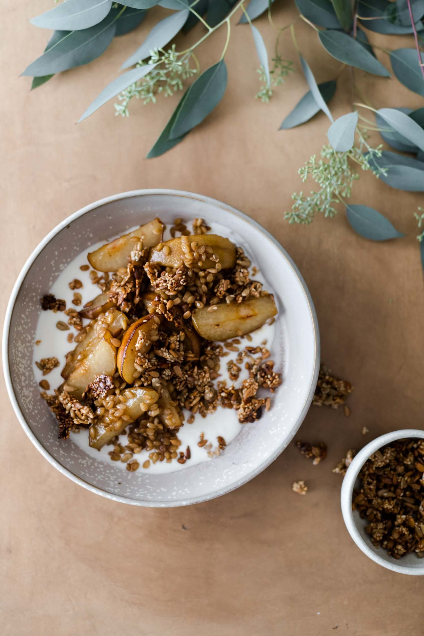 Pan-Fried Pears with Honey and Ginger Einkorn
