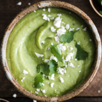 California Avocado Tomatillo Soup