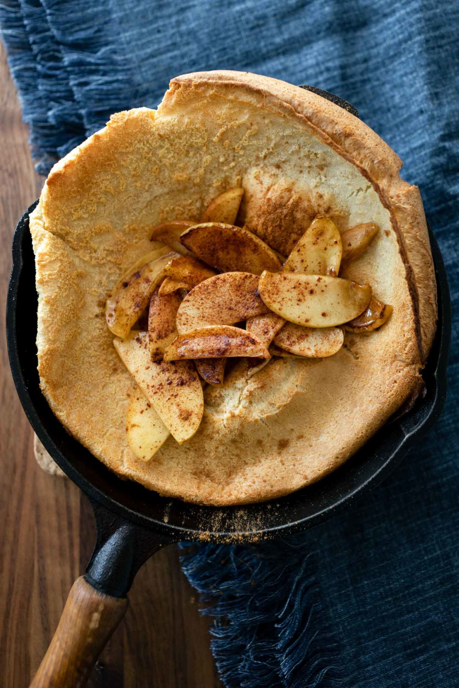 Weekend Dutch Baby with Cinnamon Apples