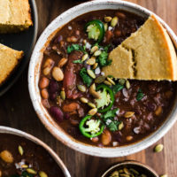 Three-Bean Vegan Chili