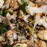 California Green Ripe Olive Cauliflower Salad