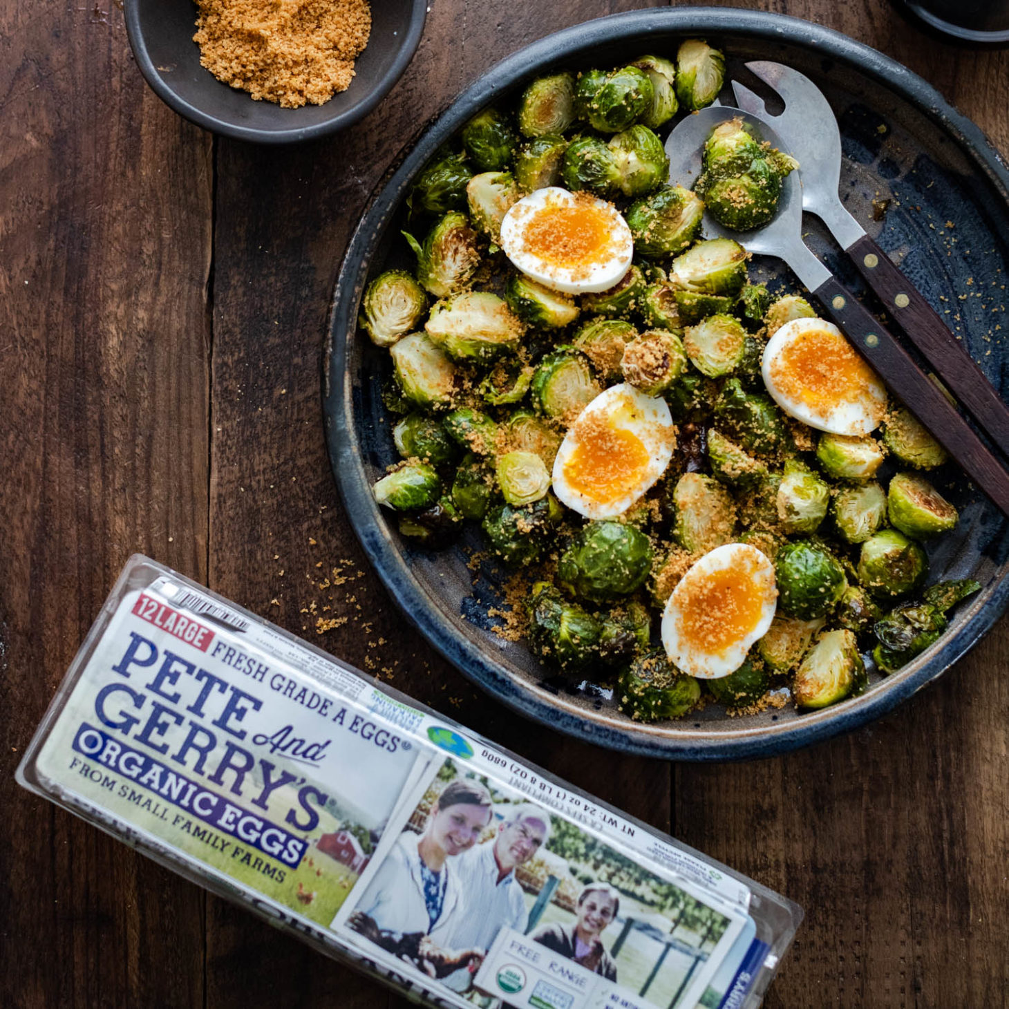 Oven Roasted Brussels Sprouts with Jammy Eggs | Naturally
