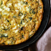 Quinoa Chard Frittata with Balsamic Onions