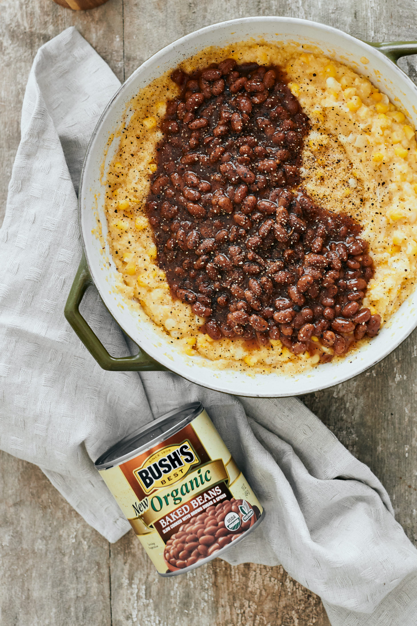Sweet Corn Polenta with Baked Beans