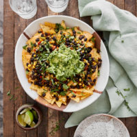 Summer Veg Nachos with Black Beans