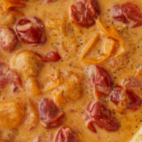 Cherry Tomato Cream Sauce with Parmesan
