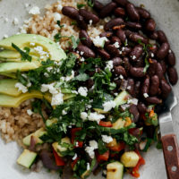 Grilled Summer Veg Bowl with Kidney Beans