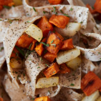 Sweet Potato Pear Pasta with Mascarpone