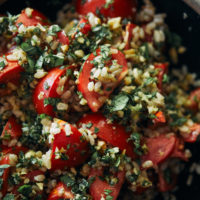 Tomato Rice Pilaf with Chickpeas