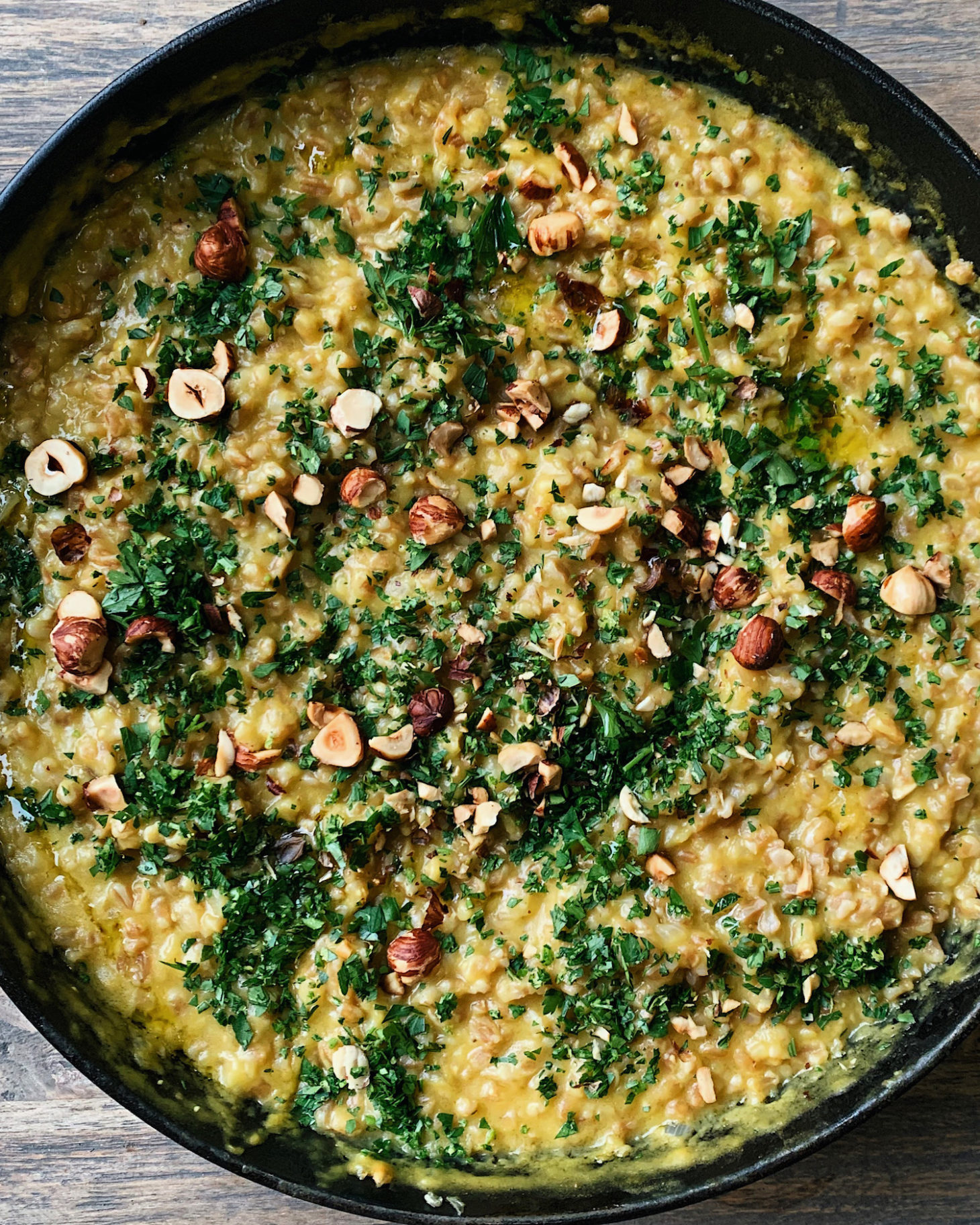 Acorn Squash Risotto with Farro