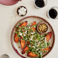 Sweet Potatoes with Sesame-Pistachios and Miso-Citrus Dressing