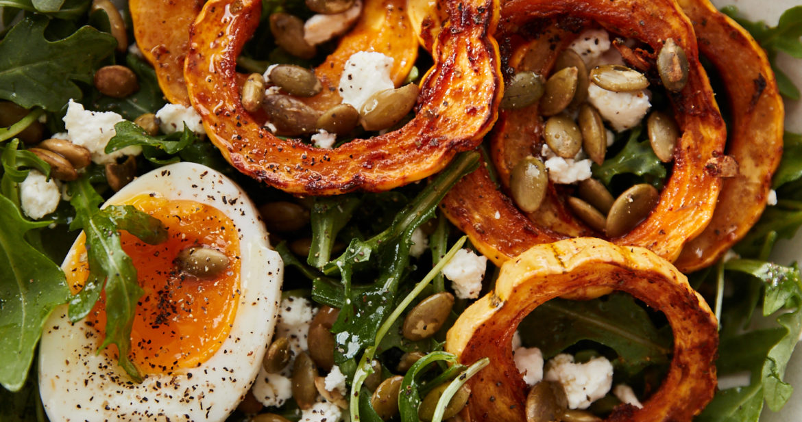 Spiced Delicata Breakfast Salad