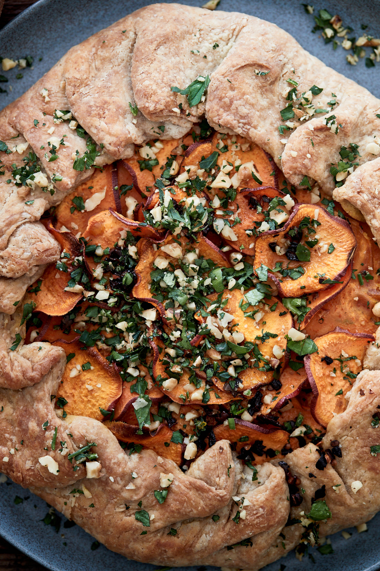 Sweet Potato Galette with Chili Oil