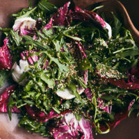 Bitter Greens Salad with Miso-Citrus Vinaigrette